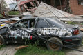 Hurricane Katrina Destruction Stock Photo