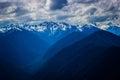 Hurricane Ridge mountain range landscape in Olympic National Park Royalty Free Stock Photo