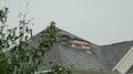 Hurricane roof damage, Houston texas Royalty Free Stock Photo