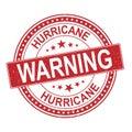 Hurricane round red stamp text on white background