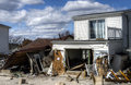 Hurricane sandy aftermath breeze point new york Royalty Free Stock Photography