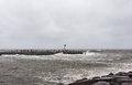 Hurricane Sandy Approaches New Jersey Shore Royalty Free Stock Image
