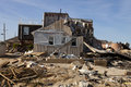 Hurricane sandy damage home in seaside heights new jersey caused by which made landfall near brigantine new jersey on Stock Images