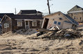 Hurricane sandy damage home in seaside heights new jersey caused by which made landfall near brigantine new jersey on Stock Photo
