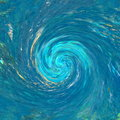 Hurricane or tornado background abstract that suggests debris being pulled into the counter clockwise vortex blur shows speed from Royalty Free Stock Photography