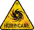 Hurricane warning sign heavy weathered vector eps Royalty Free Stock Photos