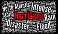 Hurricane word cloud illustration