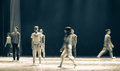 Hurried pedestrians-To come to go-Modern dance