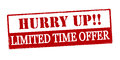 Hurry up limited time offer Royalty Free Stock Photo