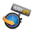 Hurry up watch message illustration design over a white background Stock Photos