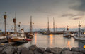 Husavik harbour iceland town in northern Royalty Free Stock Image
