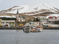 Husavik iceland town in northern Stock Photo