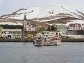 Husavik iceland town in northern Stock Photo