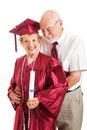 Husband Congratulates College Graduate Wife Stock Image
