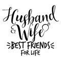 Husband and Wife best friends for life Royalty Free Stock Photo