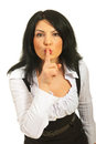 Hush! Be quiet! Royalty Free Stock Photography