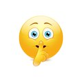 Hush emoticon Royalty Free Stock Photo