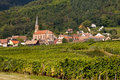 Husseren-les-chateaux in Alsace Stock Photo