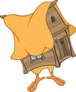Hut on chicken legs cartoon Royalty Free Stock Image