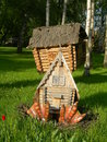 The hut on chicken legs from a fairy tale Royalty Free Stock Photos