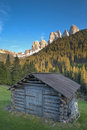 Hut in the Italian Alps Stock Image