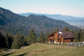 Hut in the mountains bucegi Royalty Free Stock Images