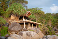 Hut on the rock Royalty Free Stock Photography