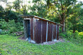 Hut small with zinc in forest Stock Images