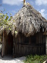 Hut in tulum mexican caribe this are rent for living wake up and have the sea a few meters away Royalty Free Stock Images