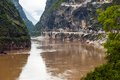 Hutiao gorge hutiaoxia entry of jinsha river pass here you can go to water fall the the upper reaches Stock Photos