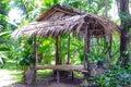Hutte en bambou Photos libres de droits
