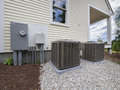 HVAC heating and air conditioning units Royalty Free Stock Photo