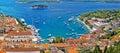 Hvar bay and yacht harbor Royalty Free Stock Photo