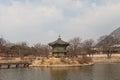 Hyangwonjeong pavilion of Gyeongbokgung Palace in Seoul, Korea