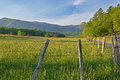 Hyatt lane cades cove spring landscape of great smoky mountains national park tennessee usa Stock Photo