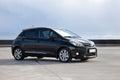 Hybrid car modern small size family fuel efficient technology Stock Photos