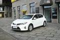 Hybrid car parked Stock Photography