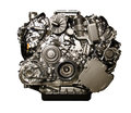Hybrid car engine from Mercedes Royalty Free Stock Photo