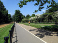 Hyde Park bicycle and jogging path Royalty Free Stock Photos