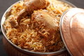 Hyderabadi biryani a popular chicken or mutton based biryani is perhaps the most well known non vegetarian culinary delights from Royalty Free Stock Photography