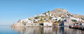 Hydra harbour view of town is one of the saronic islands of greece located in the aegean sea Royalty Free Stock Image