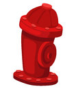 Hydrant cartoon on a white background Royalty Free Stock Images