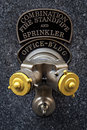 Hydrant in new york one the city of combination fire standpipe and sprinkler Stock Photo