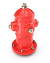 Hydrant red on white background d render Royalty Free Stock Photography