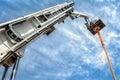 Hydraulic man lift Royalty Free Stock Photo