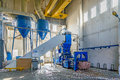 Hydraulic press for briquetting of paper waste Royalty Free Stock Images