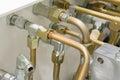 Hydraulic Tubes Royalty Free Stock Photo