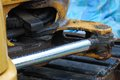 Hydraulics Shaft Royalty Free Stock Photo