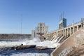 Hydro dam Royalty Free Stock Photo