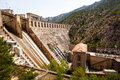 Hydro electric power station on segre river catalonia Stock Image
